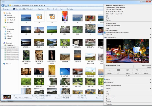 how to find images in acdsee